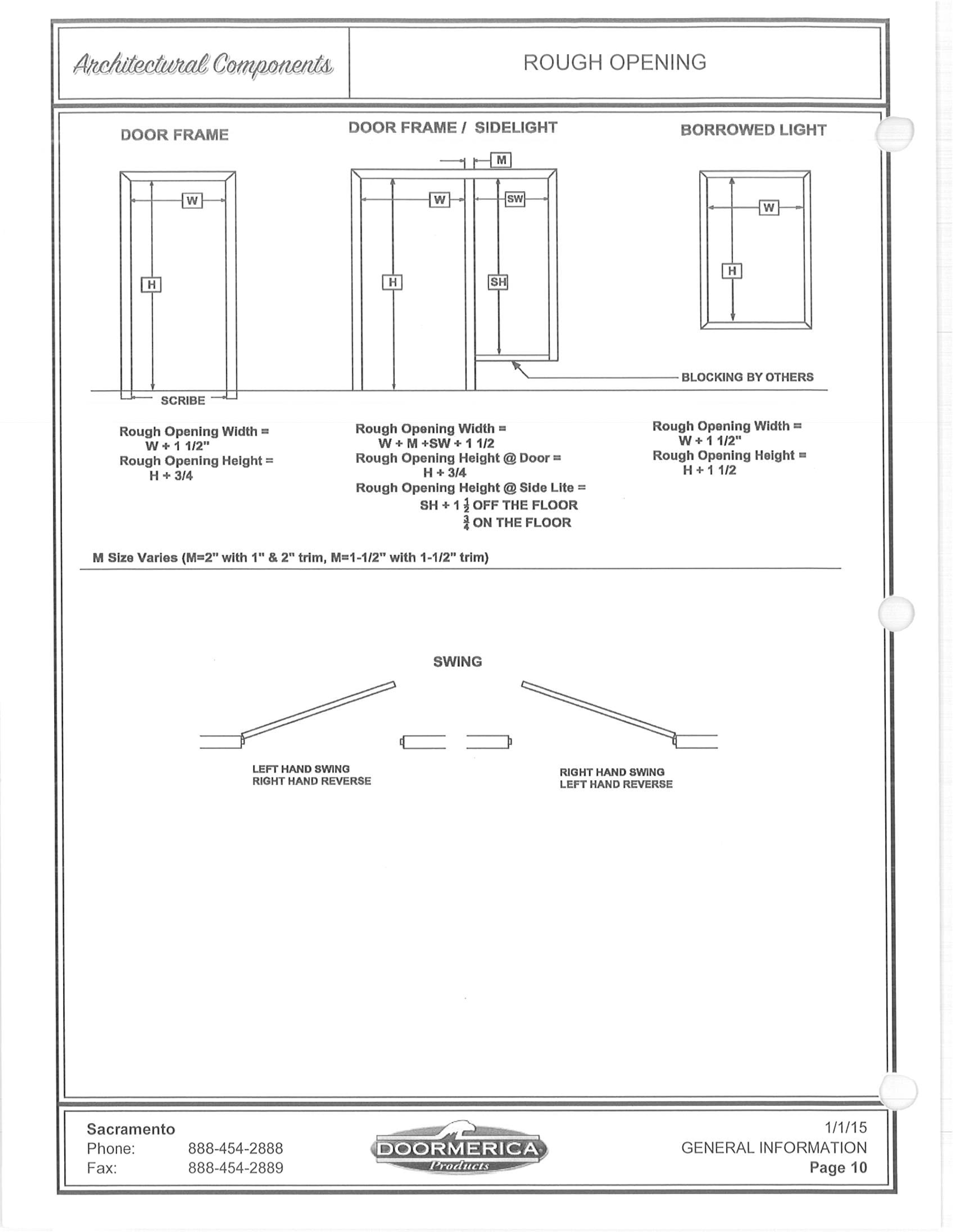 Doormerica Aluminum Frames Viewframes